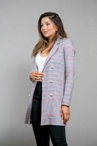 Blazer Alongado Tweed Quartzo