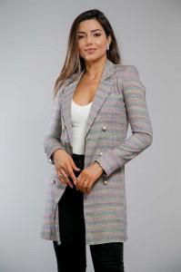 Blazer Alongado Tweed Turmalina