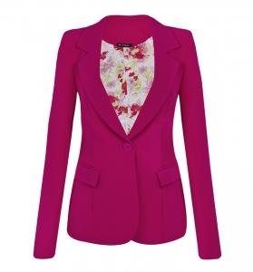 Blazer Clássico Alfaiataria Rosa Pink
