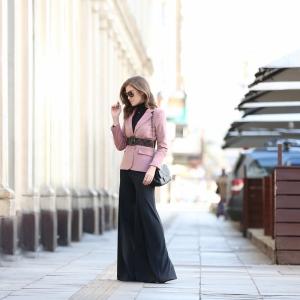 Blazer Clássico Veludo Rosé