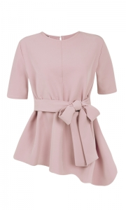 Blusa Social Laço Crepe Rosé