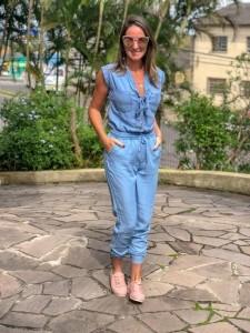 Calça Jogger Feminina Liocel Azul Claro