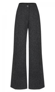 Calça Pantalona Alfaiataria Lã Granito