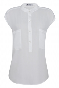 Camisa Manga Japonesa Crepe Off White