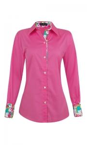 Camisa Social Manga Longa Tricoline Rosa