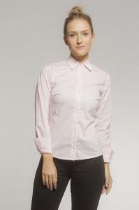 Camisa Social Tricoline Listrado Rosé