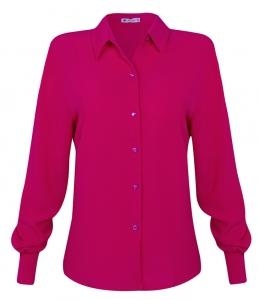 Camisa Tradicional Crepe Marrocos ML Rosa Pink