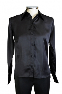 Camisa Tradicional Crepe Silk Manga Longa