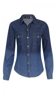 Camisa Tradicional Jeans Degradê