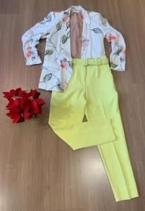 COMBO FÉRIAS | Calça com cinto + camisa gola laço + blazer de linho