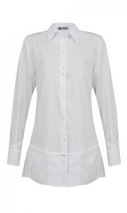 Número 13 - Camisa Alongada Tricoline Branca