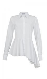 Número 14 - Camisa Assimétrica Tricoline Branca