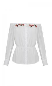 Número 15 - Camisa Social Tricoline Ombro a Ombro Branca