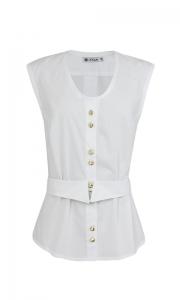 Número 17 - Camisa Regata Tricoline Branca