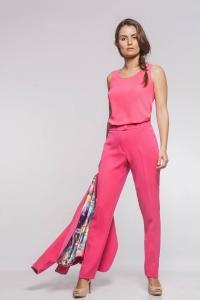 Regata Decote Redondo Crepe Rosa Pink