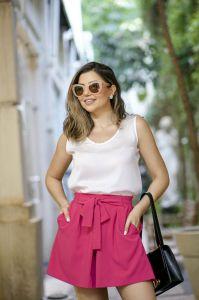 Short Clochard Social Alfaiataria Rosa Pink