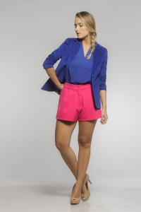 Shorts Boyfriend Alfaiataria Rosa Pink