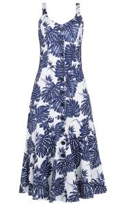 Vestido Peplum Linho Floral