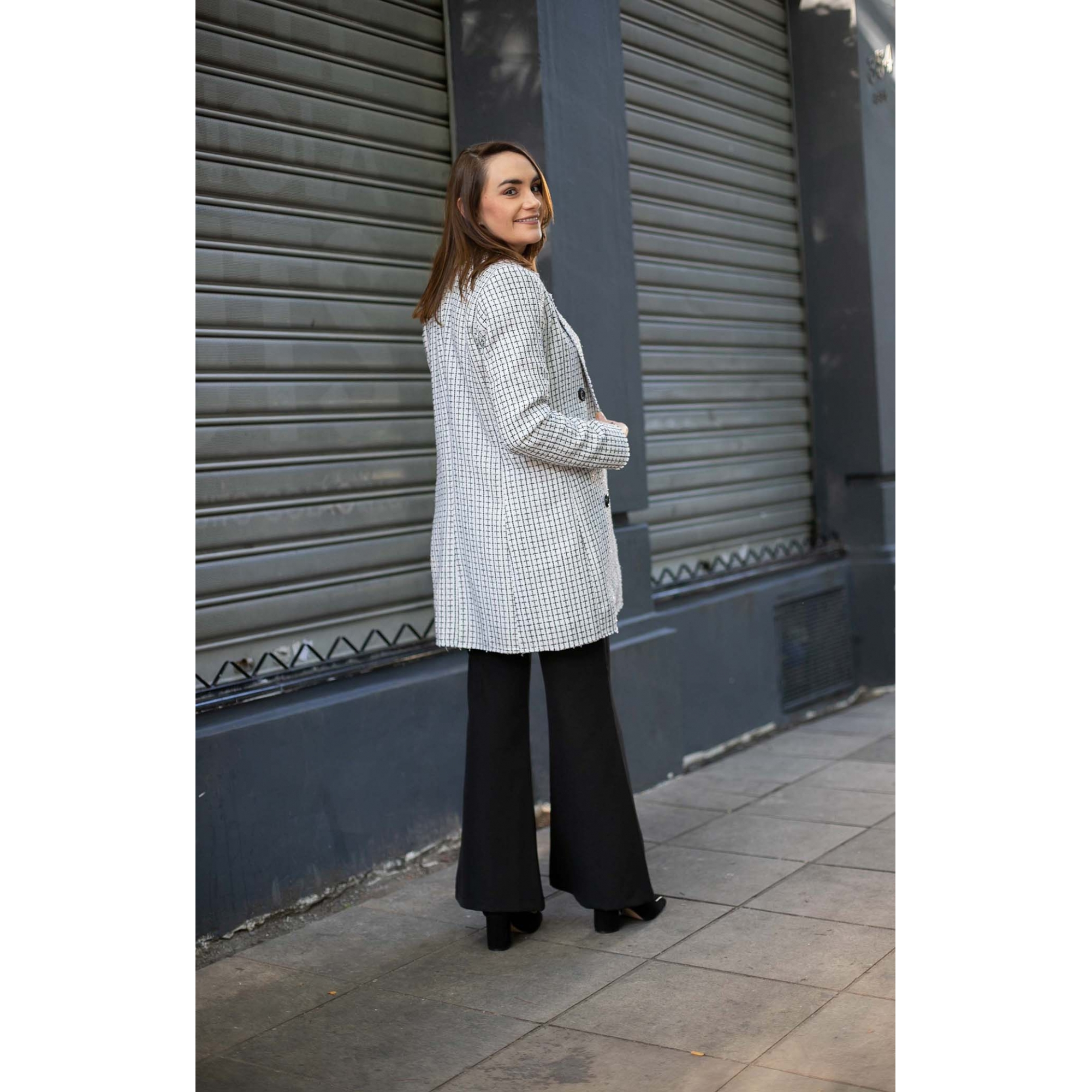 Blazer Alongado Tweed Selenita