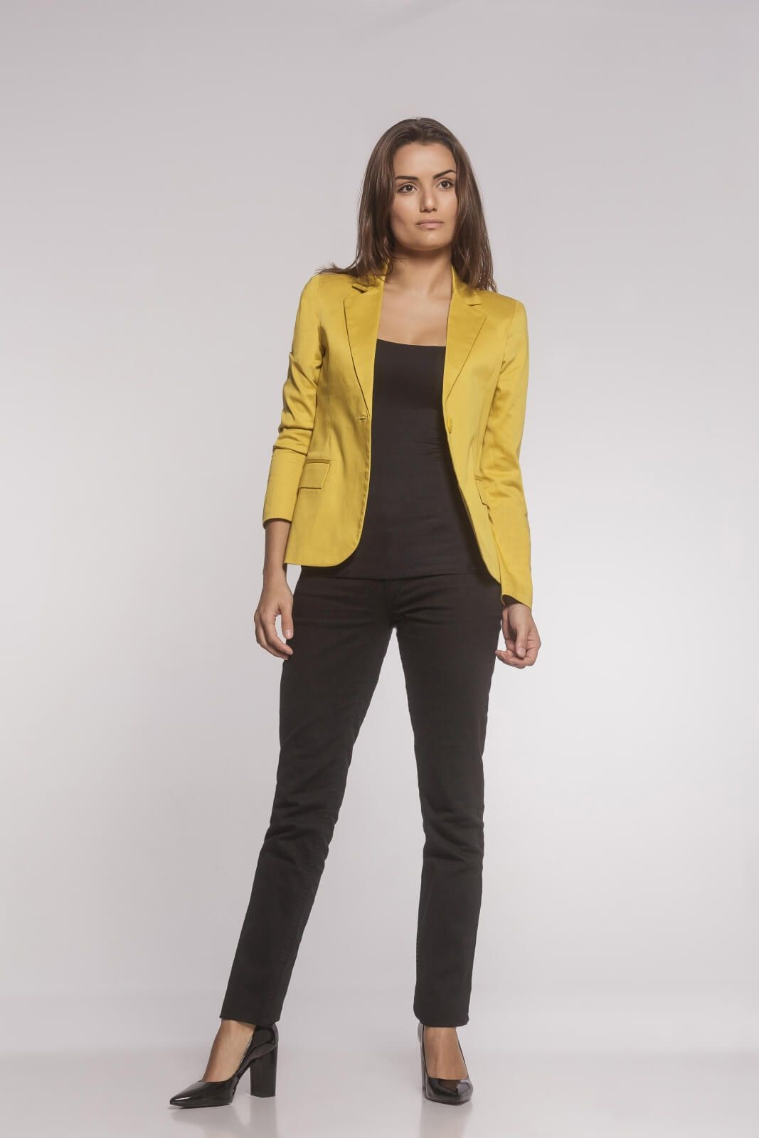 Blazer Clássico Sarja Amarelo