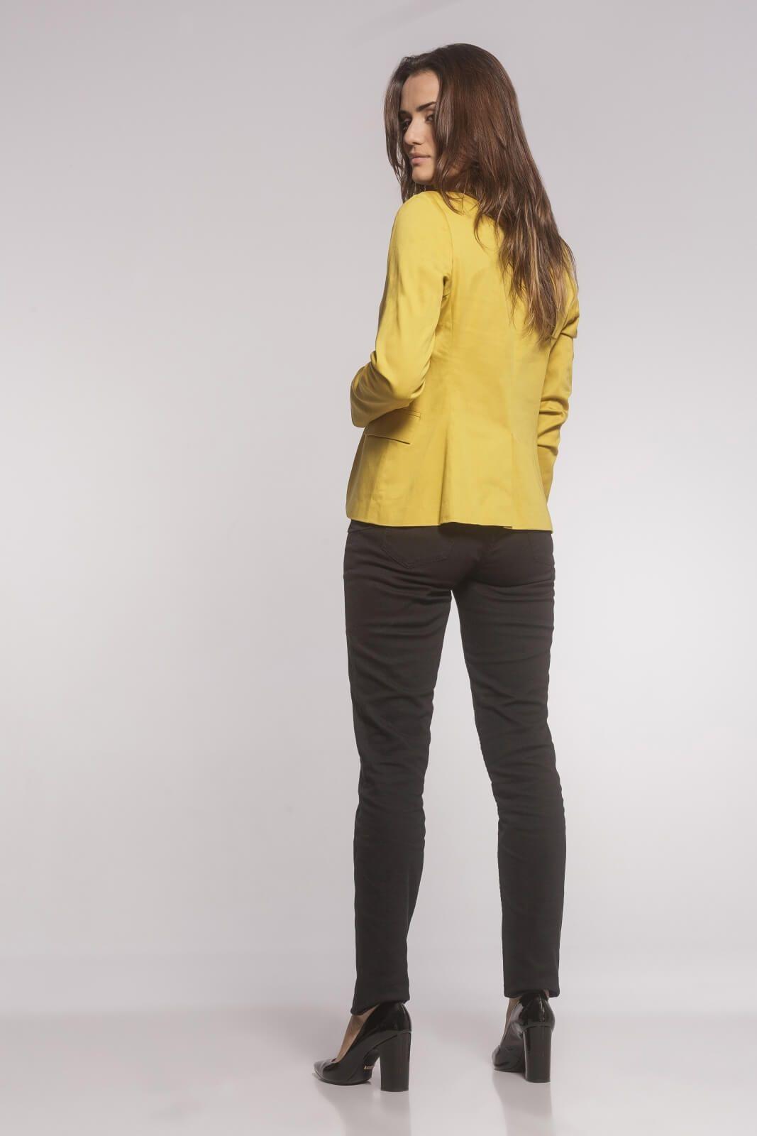 Blazer Feminino Clássico Sarja Amarelo