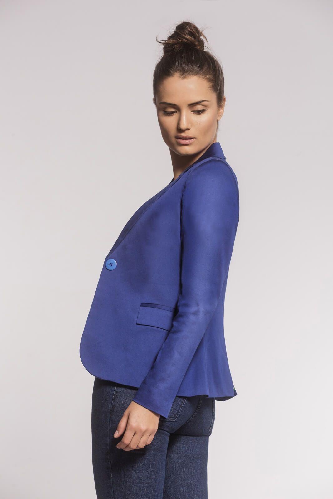 Blazer Clássico Sarja Azul Bic
