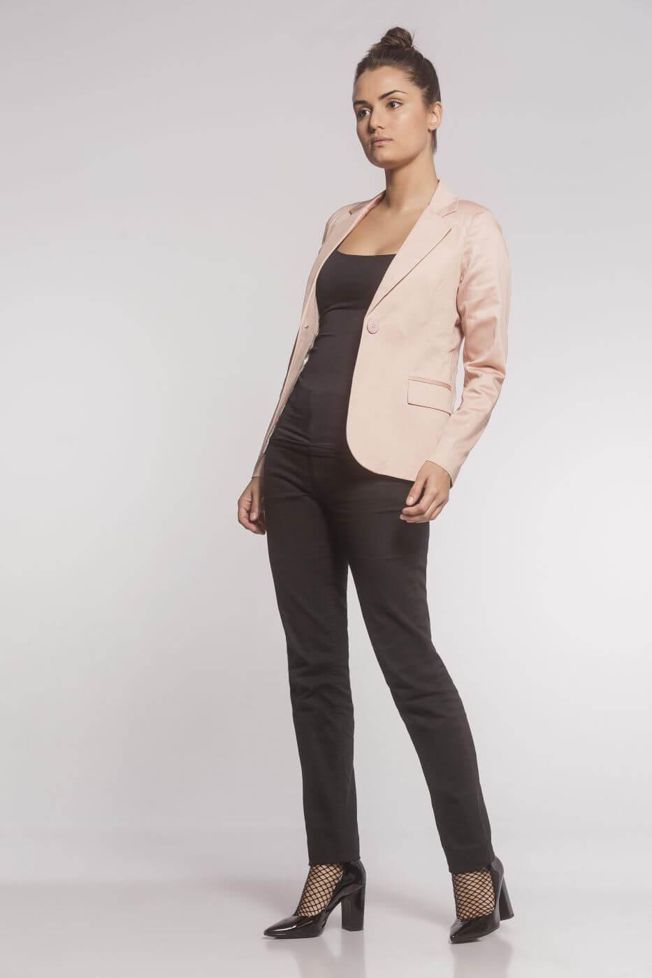 Blazer Clássico Sarja Rosé