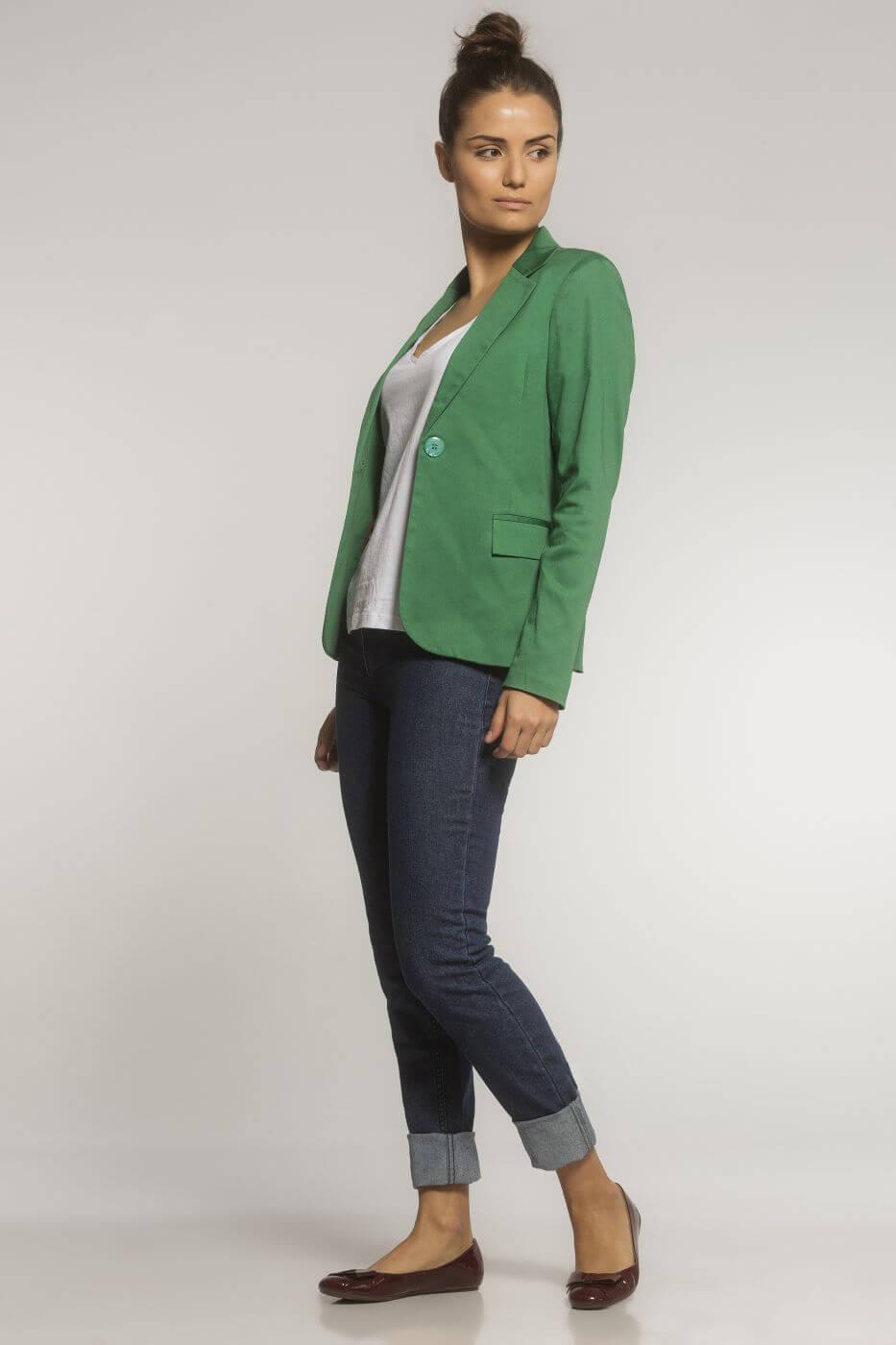 Blazer Clássico Sarja Verde Militar