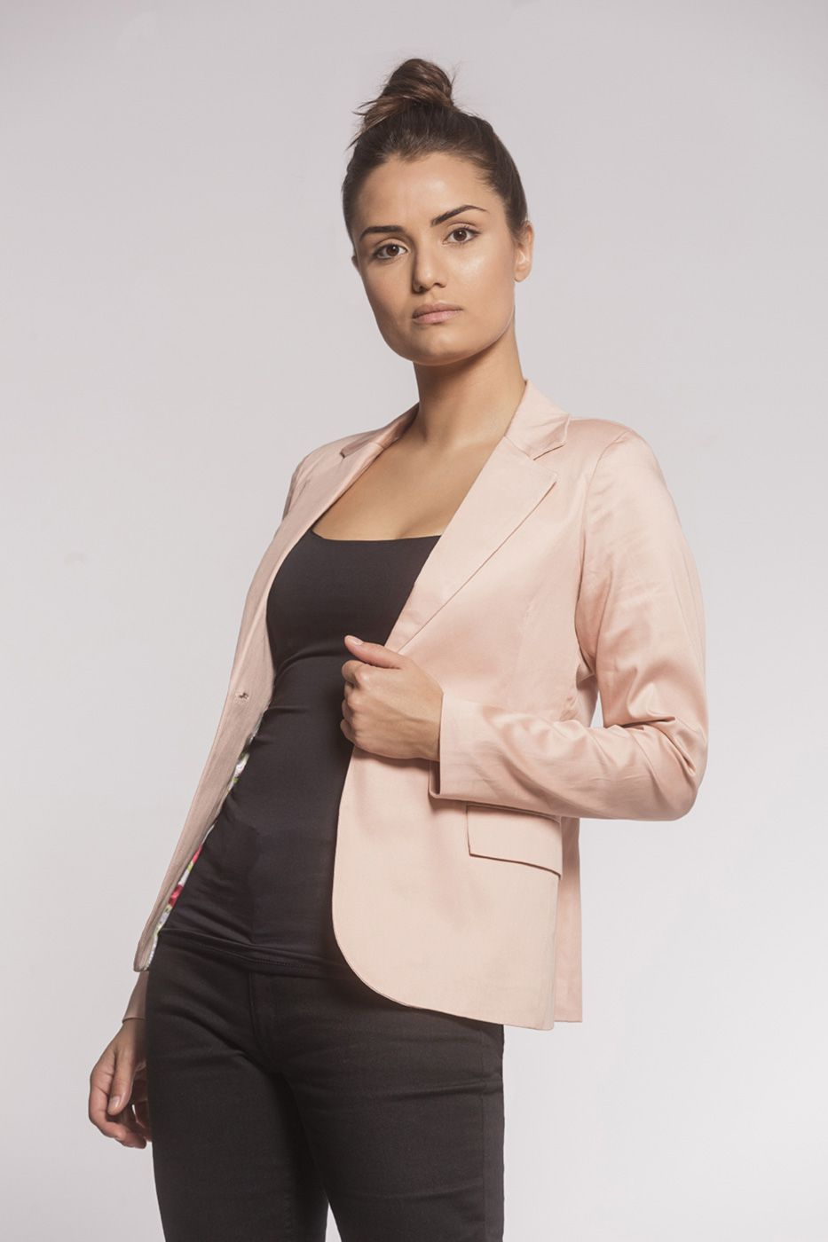 Blazer Feminino Sarja Rosé