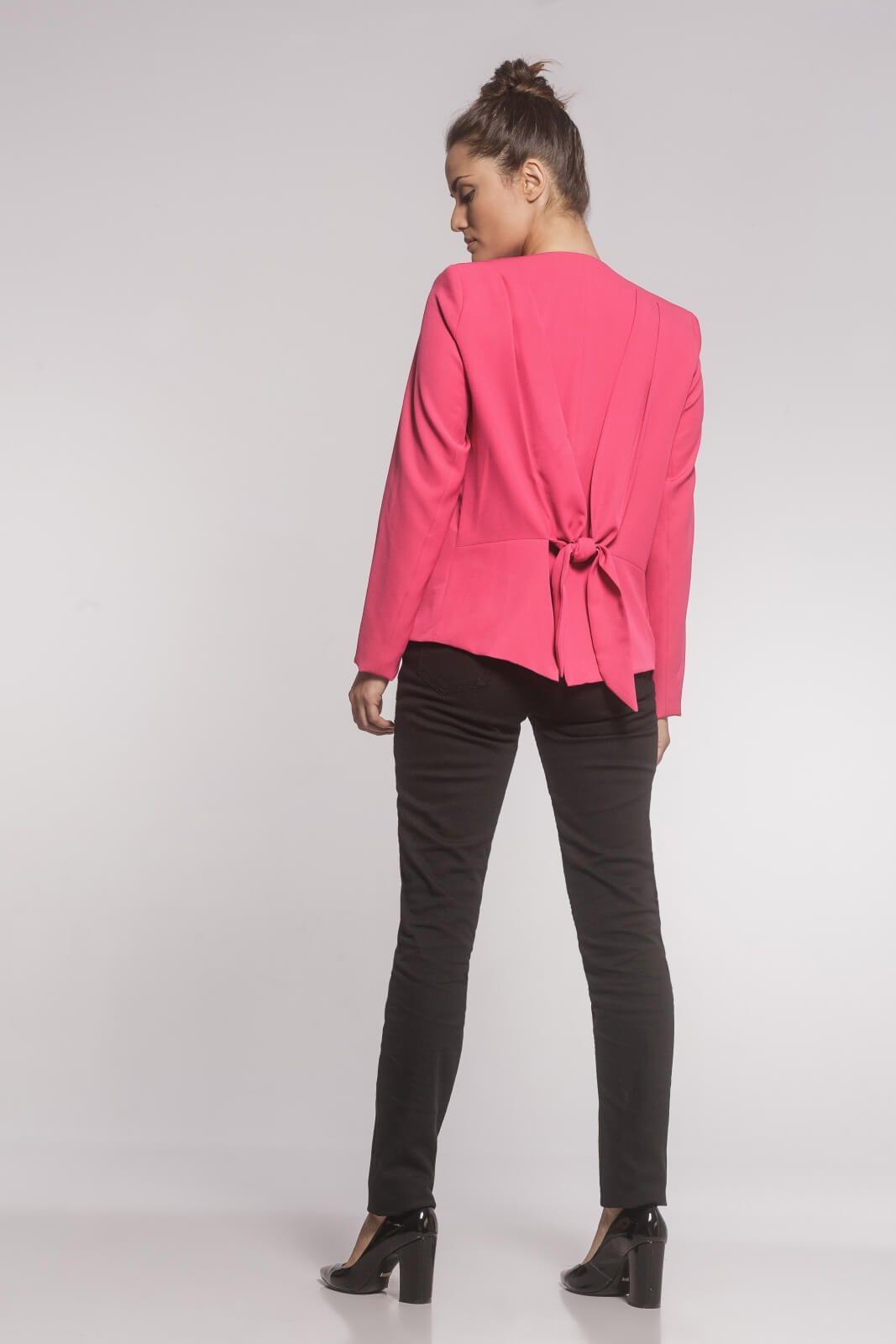 Blazer Feminino Laço Alfaiataria Rosa Pink