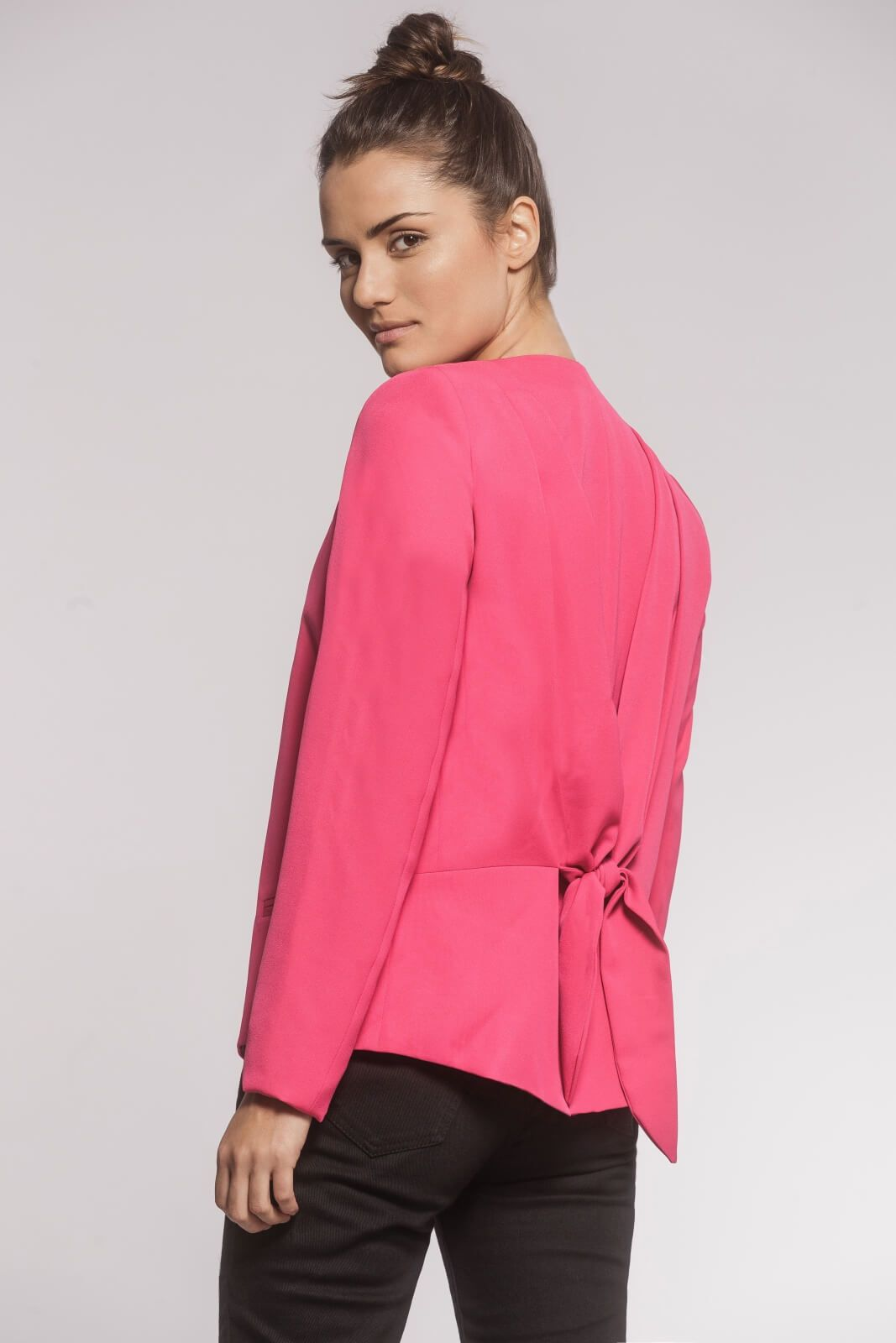 Blazer Laço Alfaiataria Rosa Pink
