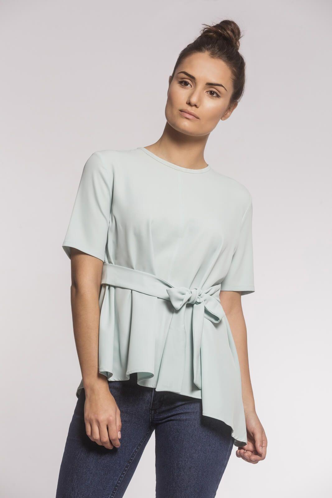Blusa Feminina Laço Crepe Verde