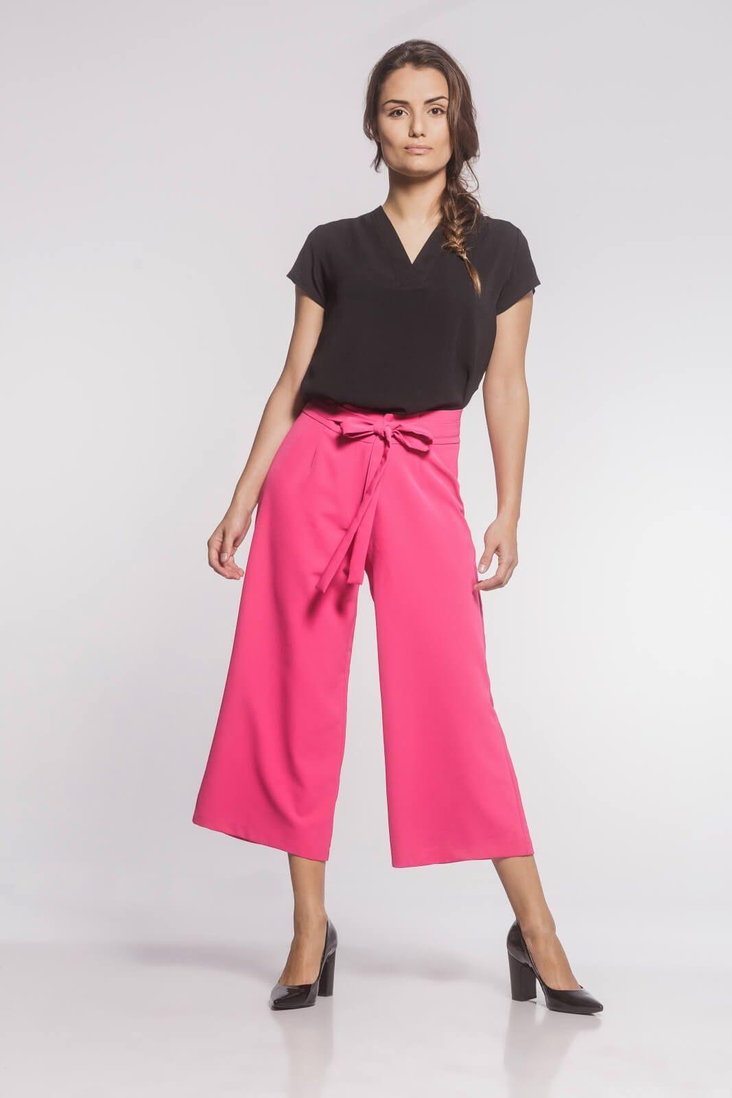Calça Pantacourt Alfaiataria Rosa Pink