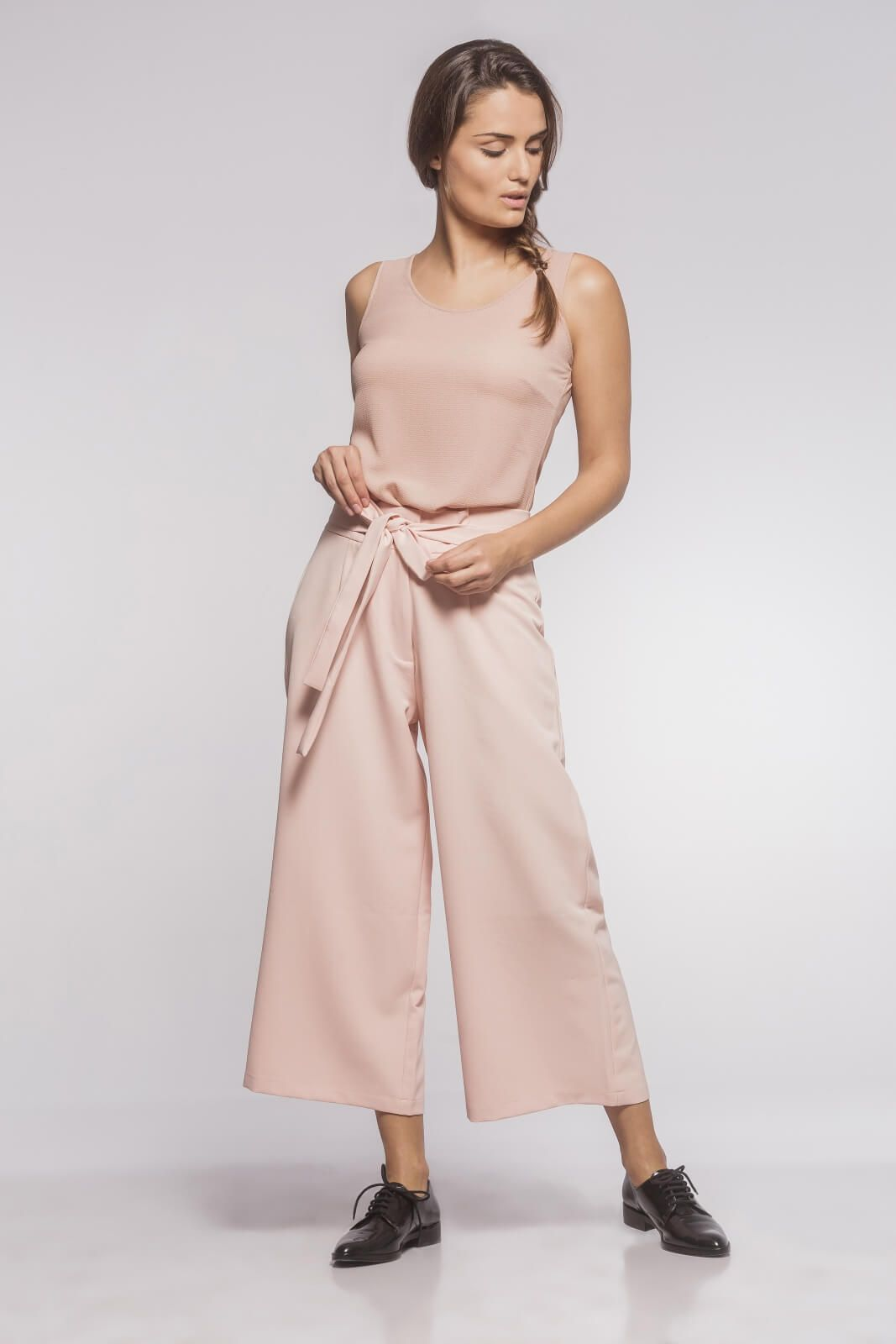 Calça Pantacourt Feminina Alfaiataria Rosé