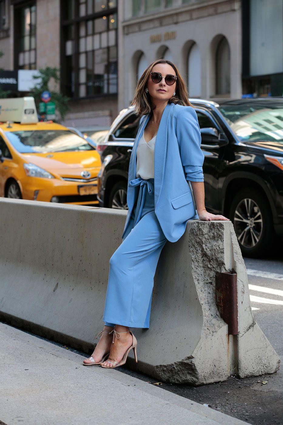 Calça Pantacourt Alfaiataria Azul Jeans
