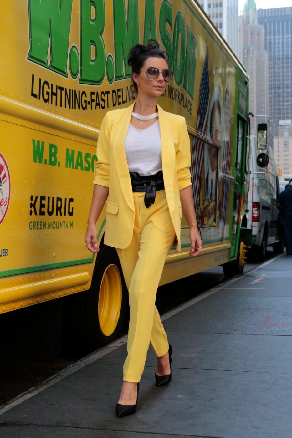 Calça Social Alfaiataria Amarelo