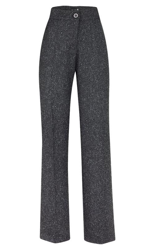 Calça Social Reta Alfaiataria Lã Granito