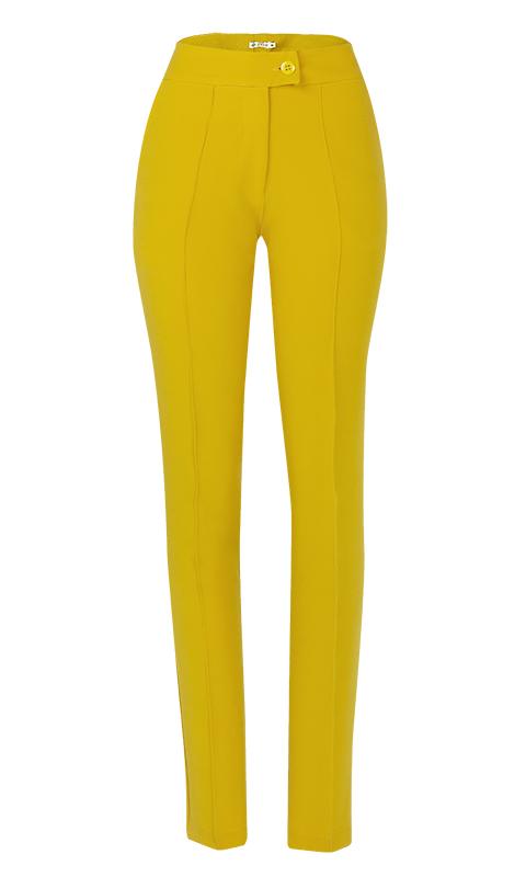 Calça Social Skinny Alfaiataria Amarelo