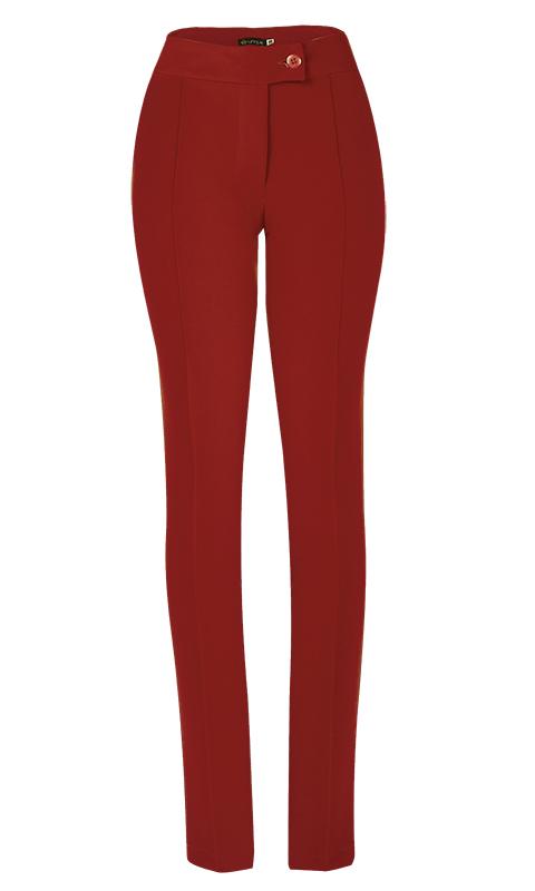 Calça Social Skinny Alfaiataria Vermelho