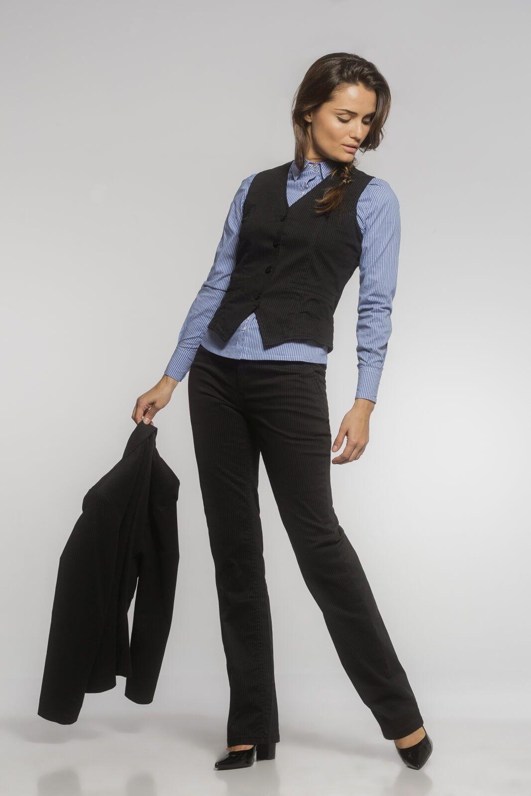 Camisa Tradicional Tricoline Listrado Azul Escuro
