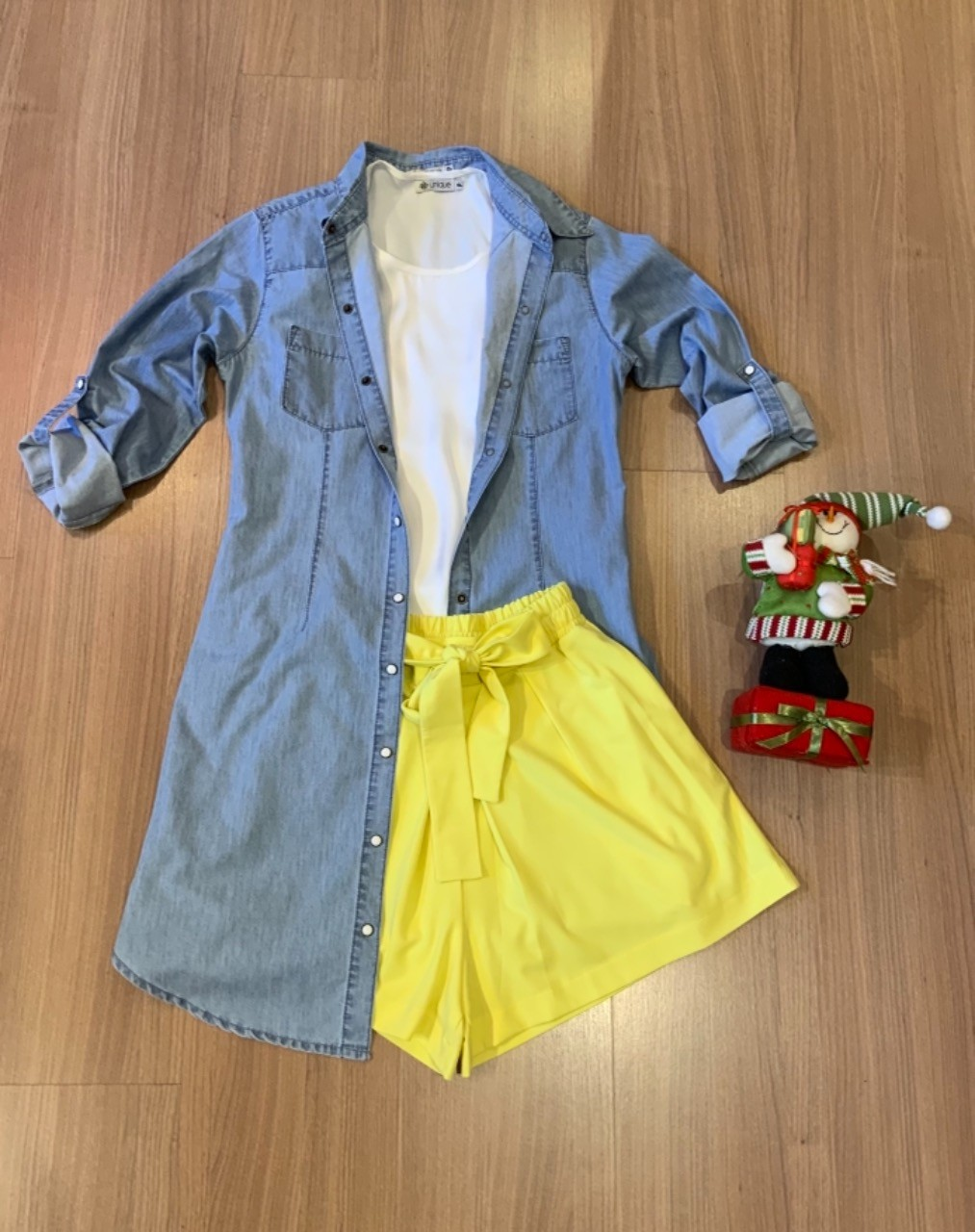 COMBO FÉRIAS | Short clochard + vestido chemisier