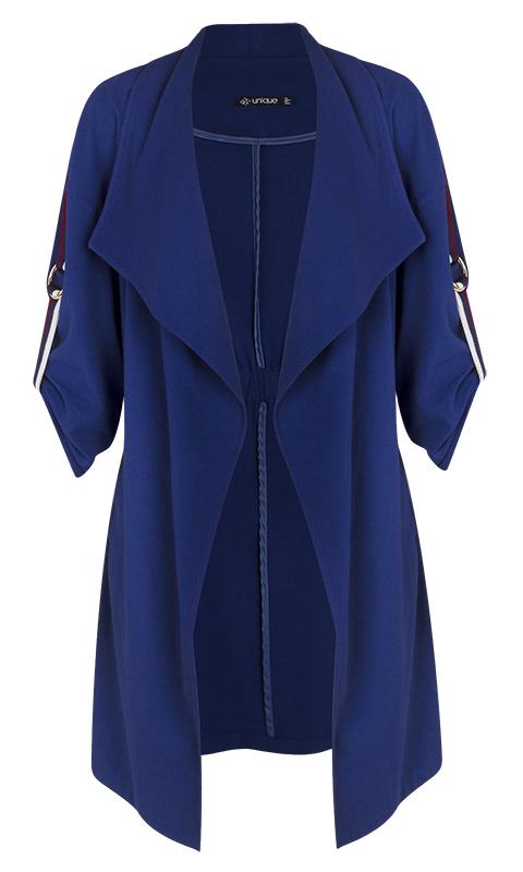 Kimono Alongado Manga 3/4 Azul