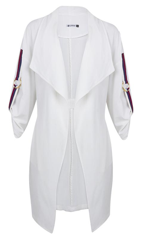 Kimono Alongado Manga 3/4 Off White
