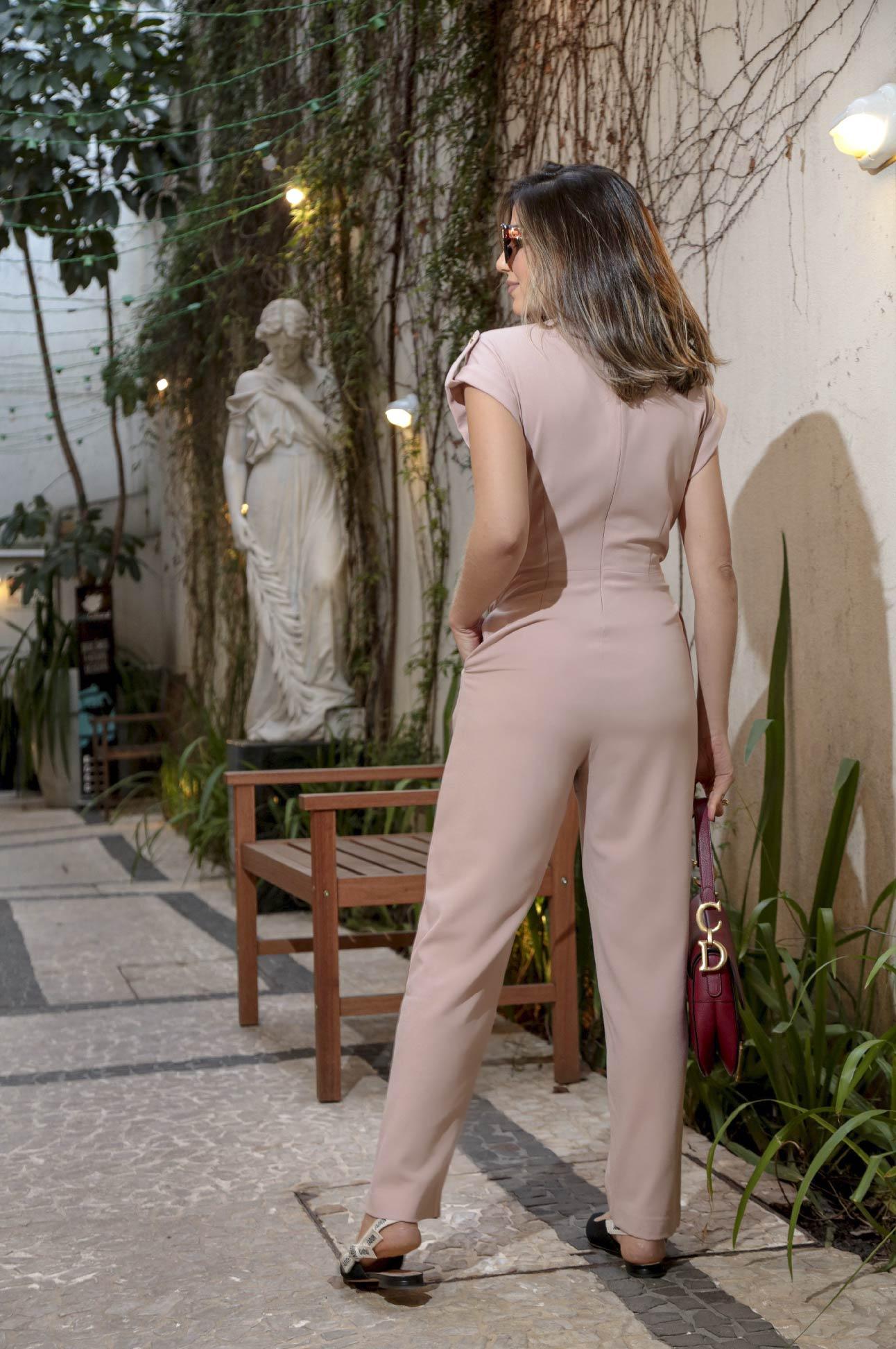 Macacão Longo Social Alfaiataria Feminina Rosé
