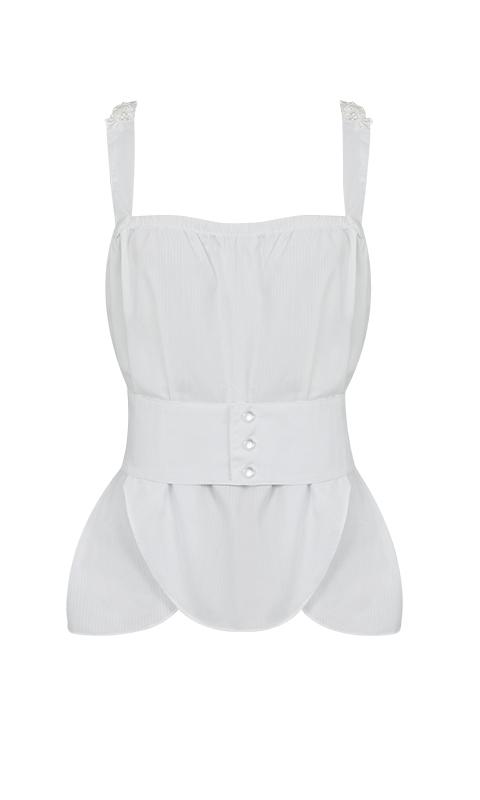 Número 20 - Camisa de Alcinha Tricoline Branca