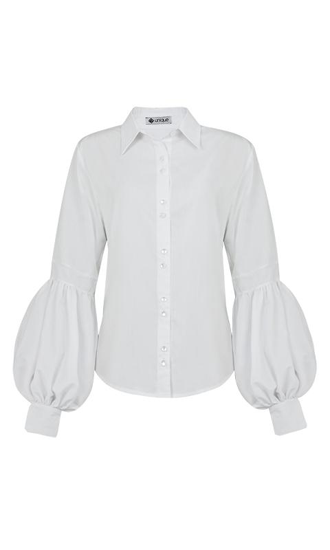 Número 22 - Camisa Social Manga 1/2 Presunto Tricoline Branca