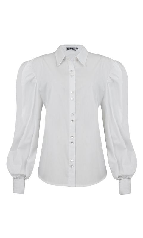 Número 23 - Camisa Social Manga Presunto Tricoline Branca