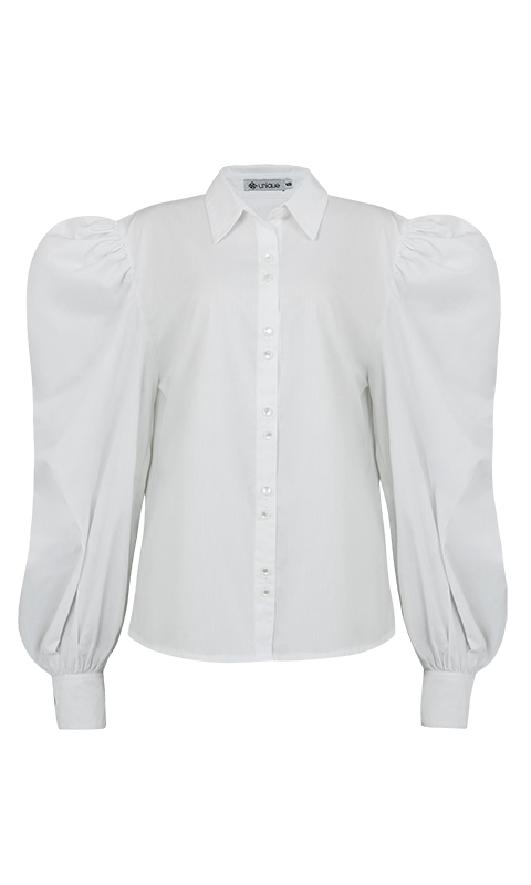 Número 24 - Camisa Social Manga Pernil Tricoline Branca
