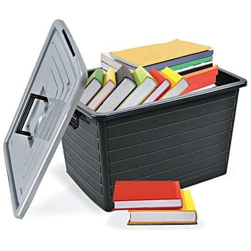 Kit 5 Caixas Organizadora Multiuso 50 Litros Com Rodinha