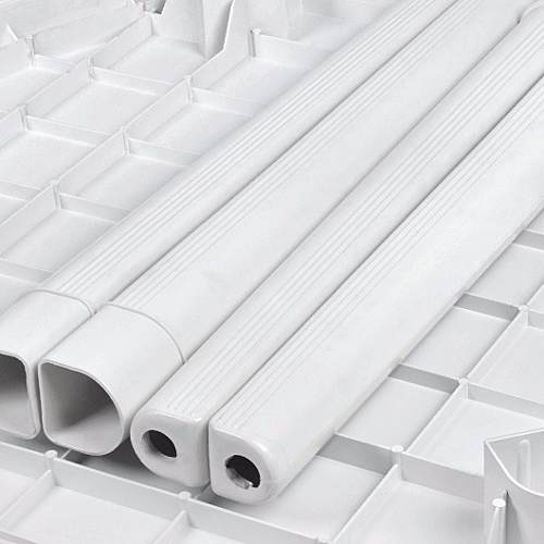 Mesa Plástica Quadrada Desmontável Branca C/ Label 90cm